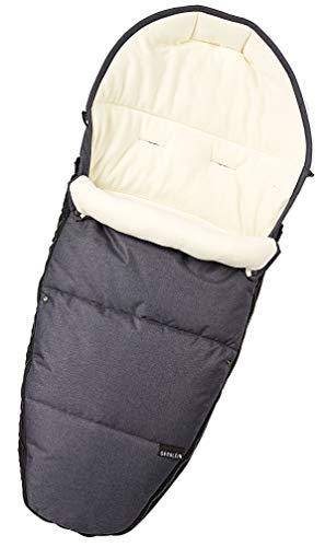 Gesslein Fußsack 716749000 Sleepy/Winterfußsack für Kinderwagen, Sportwagen, Buggy, Babywanne oder Schlitten, grau