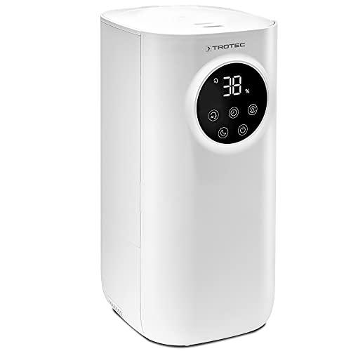 TROTEC Umidificatore a ultrasuoni 3 in 1 B 7 E con diffusore di aromi, filtro dell'aria a carbone integrato, lampada UV antibatterica e grande serbatoio d'acqua da 5 litri