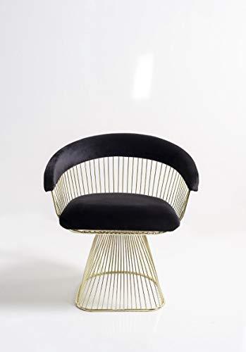 K&CO Verona Art Déco - Sillón de color negro intenso