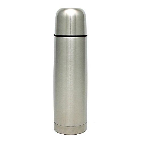 GRÄWE Isolierflasche aus Edelstahl, 0,75 Liter Trinkflasche, Vakuum-Isolierte Thermoflasche mit Becher und Drehverschluss, auslaufsicher, spülmaschinenfest - 750 ml