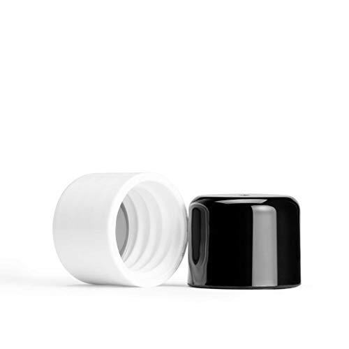 memobottle - Paquete de tapa de plástico blanco y negro