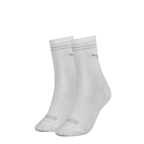 PUMA Damen New Casual Socken Classic 6er Pack, Größe:35-38, Farbe:White (300)