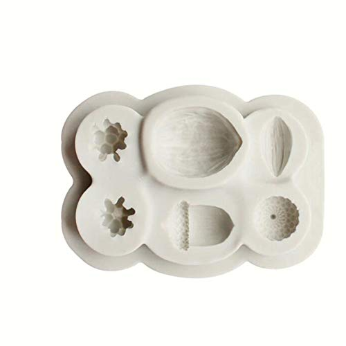 HBWHY Molde de silicona para repostería de 6 rejillas para fondant Cake Mold Ice Cube Dulces Cholocate Candy Mold Pudding Utensilios para hornear Accesorios de cocina