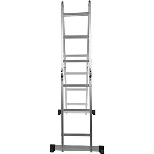GYZJ 11.5FT Multi Purpose Aluminum Ladder Folding Step Ladder Foldable Lightweight Ladder