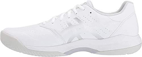 ASICS Men's Gel-Game 7 Tennis Shoes, 12.5M, White/Silver