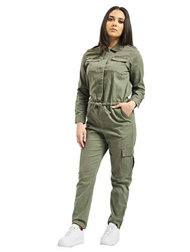 ONLY Damen Jumpsuit Meja-Elina Hosen-Anzug mit Cargo-Taschen 15191626 Kalamata 36/32
