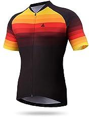 HIKENTURE Fietsshirt heren racefiets - kleurrijke racefiets MTB shirt heren dames korte mouwen - fietsshirt voor racefiets mountainbike mannen - fietskleding als MTB Jeresy fietsshirt shirt