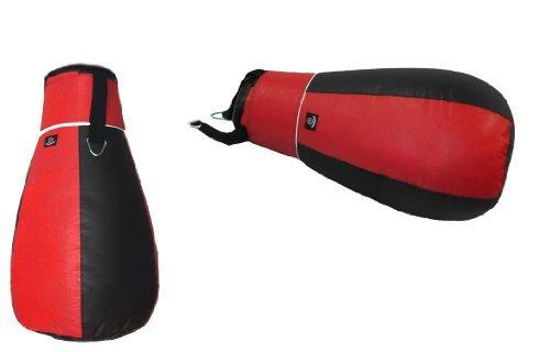 3ft Maize Bag Pear Shape Punch Bag Punchbag Boxing Black & Red Punching Bag by Aasta