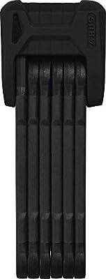 ABUS Faltschloss Bordo Granit XPlus 6500/110 mit Halterung - Fahrradschloss aus gehärtetem Stahl - Sicherheitslevel 15 - 110 cm - 78067 - Schwarz