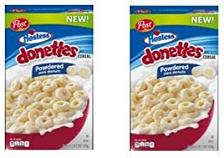 Post Hostess Donettes Cereal, Powdered Donuts, 18 oz (pack of 2)