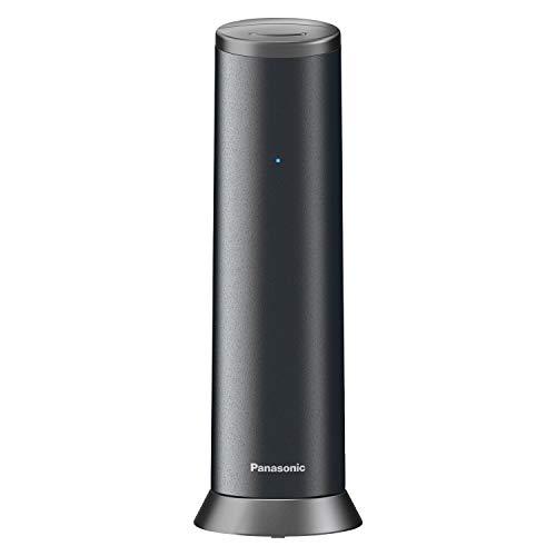 Panasonic KX-TGK220GM Design-Telefon mit Anrufbeantworter (Wecker, Haustelefon (schnurlos), HD-Telefonie, Eco-Plus, Freisprechfunktion) matt-schwarz