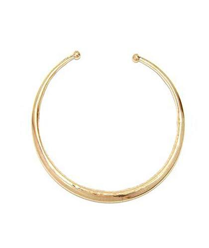Urbiana Unisex Gold Choker Necklace Adjustable