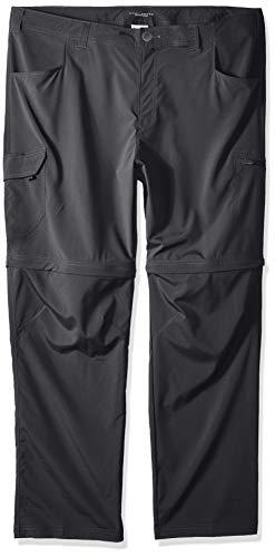 Columbia Silver Ridge Stretch Big & Tall Convertible Pants, Grill, 46x30