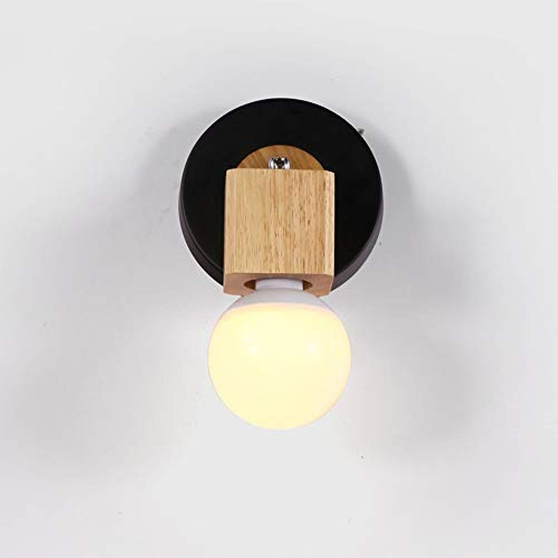 Einfache hlzerne Wandlampe nordischer kreativer Schlafzimmerbalkonflur-Hallenbett