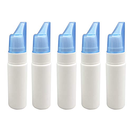 HEALLILY Botella de aerosol nasal portátil 70ml Rinitis Niebla Pulverizador nasal Botella de plástico 5 piezas