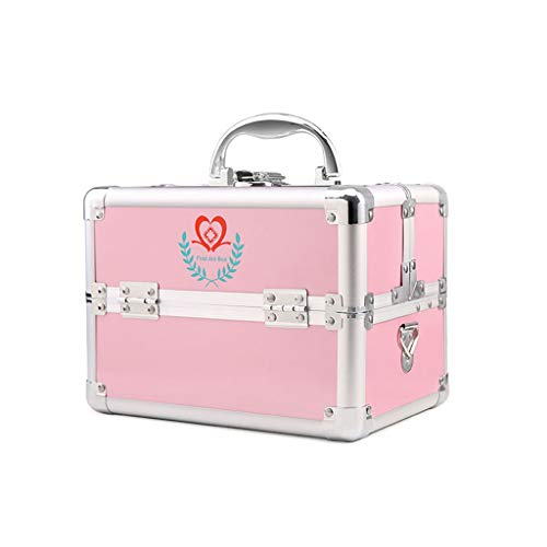 NYDZDM EHBO-kit met compartimenten en draagbaar handvat, Pill Case Travel First Aid Kit Storage Organizer