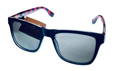 Converse Gafas de sol cuadradas de plástico azul marino para hombre, lente ahumada clara H106