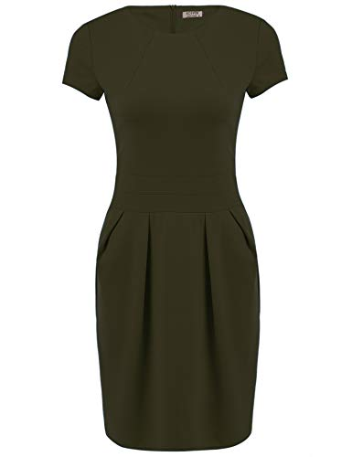 ACEVOG Women's Work Dress Official Wear to Work Retro Business Bodycon Pencil Dress