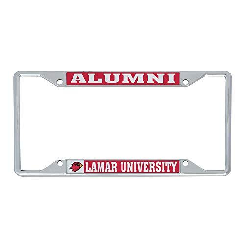 Desert Cactus Lamar University Cardinals NCAA Metal License Plate Frame for Front or Back of Car Officially Licensed (Alumni)