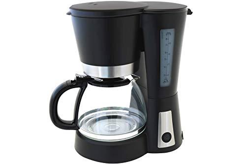 Design Kaffeemaschine 900 Watt Edelstahl schwarz 1,2 Liter