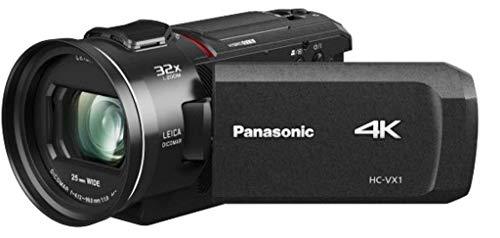 Panasonic HC-VX1EG-K Videocamera Compatta Ultra HD 4K, Grandangolo 25 mm, Zoom ottico 24x, 4K Cropping, Wi-Fi, Nero