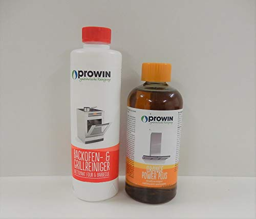Prowin Backofen und Grillreiniger mit Orange Power Plus je 500ml Set