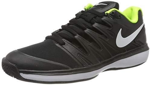 Nike Herren AIR Zoom Prestige Cly Tennisschuh, Black/White-Volt, 40.5 EU
