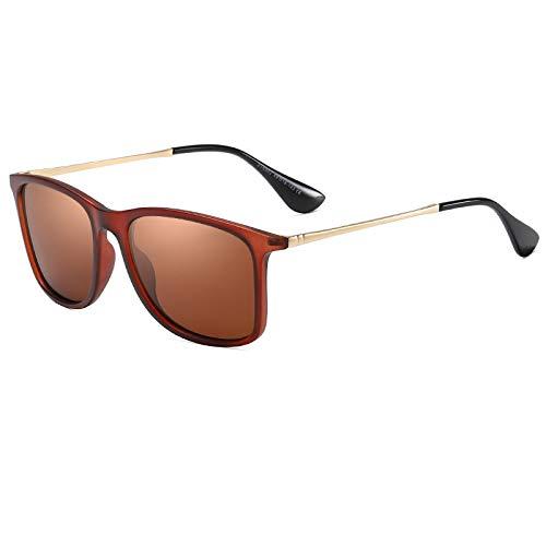 Gafas De Sol,Gafas De Sol Polarizadas Gafas De Sol Cuadradas Clásicas Gafas De Sol Para Exteriores Para Hombres Y Mujeres, Té De Arena Tres Tés