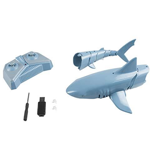 #N/V 1:18 2.4G Simulación Control Remoto Tiburón Barco Impermeable Batería Recargable Juguete Para Piscina Baño Juguete