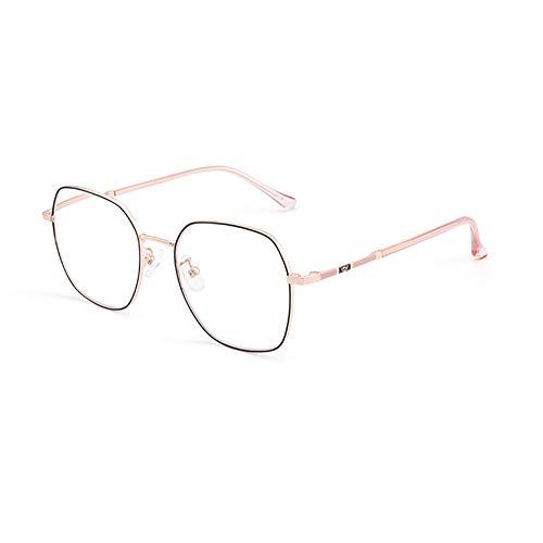 HQMGLASSES Gafas de Lectura de Lectura Anti-Azules con Montura Ultraligera para Mujer, Lente de Resina asférica 1,56 Lupa antifatiga dioptría de +1,0 a +3,0,Oro,+1.0