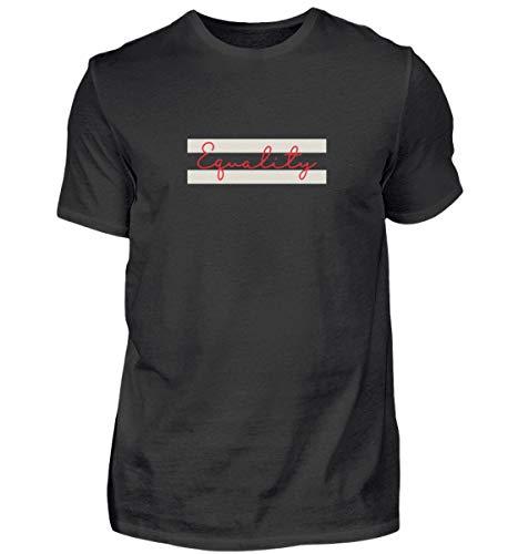 Camiseta para hombre Equality - contra el racismo - Homofobia, amor, feminismo LGBT Negro XXXL