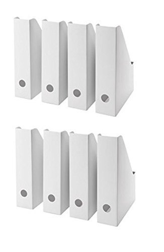Ikea White Magazine FLUNS File Holder Document Organizer Paper Book Storage Office Desk Organizer By Lizzy Outlet (Pack Of 36)