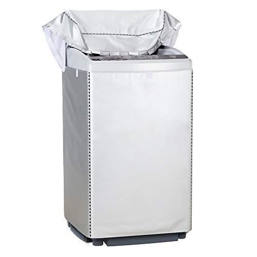 [Mr.You]洗濯機カバー 防水 防塵 防湿 紫外線3年耐久 オックスフォード マジックテープ 全自動 <日本正規2年保証>防水生地【L】8-10KGに対応