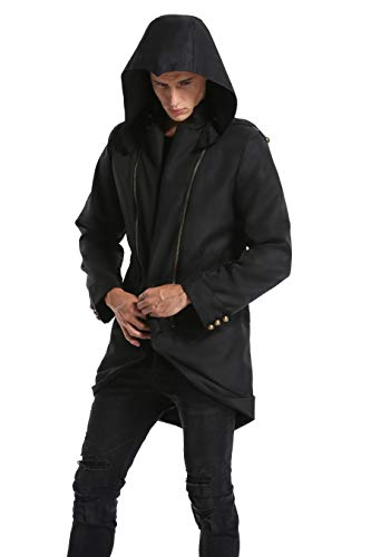 BuyChic Cosplay Costume Hoodie/Jacket/Coat-9 Options for The Fans, Black,Child L