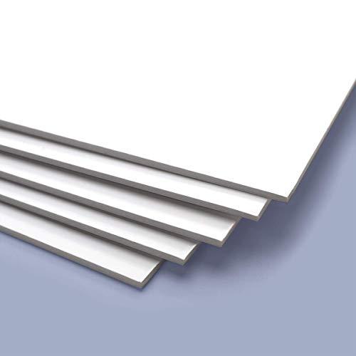 Cartón Pluma diferentes grosores y colores (no adhesivo) (Blanco, 5 mm de grosor, 100x70 cm) ✅