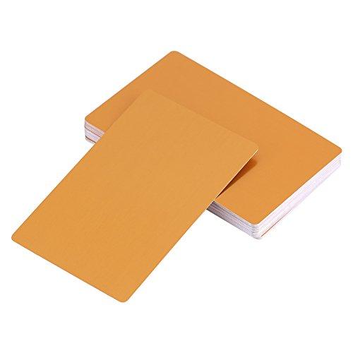 50 Stks metalen visitekaartjes blanco laser gegraveerd aluminium legering dikte voor klant DIY Gift Cards 5 kleuren (optioneel) Geel