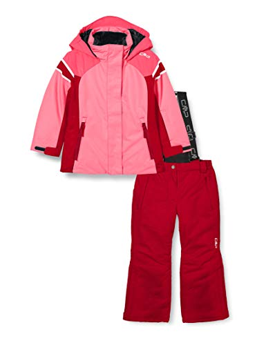 CMP Set da Sport sulla Neve (Giacca+Pantaloni), Sci Bambina, b351, 152, Pink Fluo