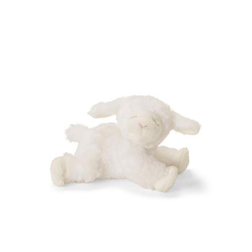 Baby GUND Winky Lamb Stuffed Animal Plush Rattle, White,4.5