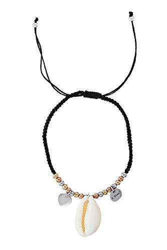 Córdoba Jewels Armband van verguld en roséverguld staal met natuurlijke schelp met schelpkernparels