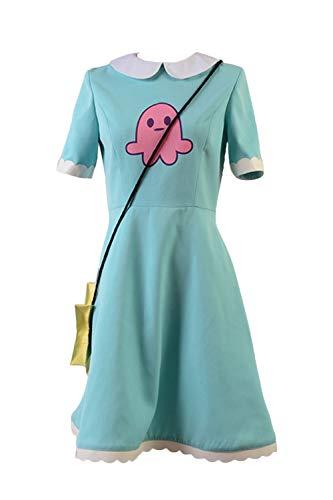 xiemushop Disfraz De Anime para Mujer Princesa Cosplay Vestido Azul Trajes De Carnaval De Halloween, S