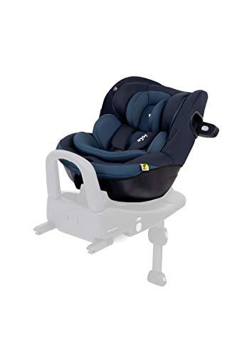 Set Joie Reboarder i-Venture & Windel Blaubaer, Kindersitz mit Isofix, Autokindersitz 0 kg -18 kg, Babyschale mit Isofix Station, Joie Babyschale, Design:Deep Sea