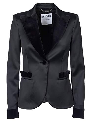 Moschino Luxury Fashion Damen A051555332555 Schwarz Acetat Blazer   Jahreszeit Outlet