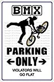 Shimeier BMX Parking Only Retro Vintage Tin Sign Coffee House Business Dining Room Pub Beer 20 cm x 30 cm