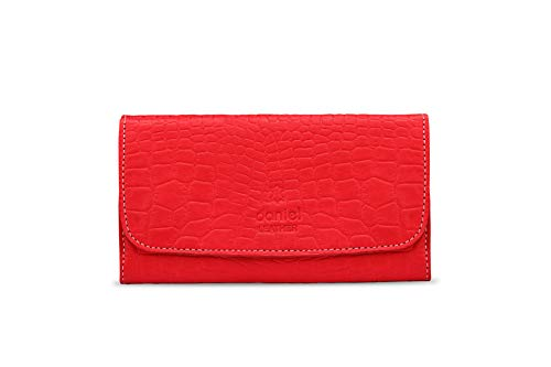 Genuine Croc Leather Premium Quality Tobacco Pouch (Red)