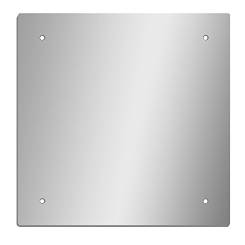 GLOSSY GALLERY Square Shatterproof Acrylic Safety Mirror With Screw Mount Set - 24in x 24in