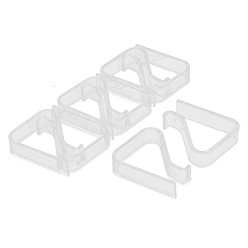 sourcing map Sourcingmap® Abla Plástico Mantel Cubierta Clip Clip Clamp Soporte 2-3.5Cm Espesor 8 Piezas