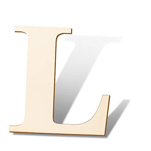 SAVITA 30cm Lettere in Legno Vuote Cartello in Legno Non Finito a Fette per la Decorazione della Parete del Segno della Casa Progetti di Artigianato Fai-da-Te (L)