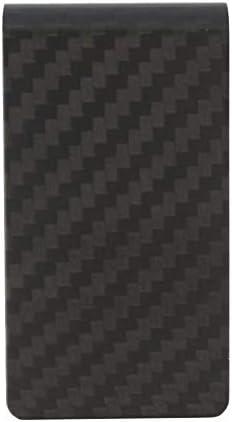 Fastener & Clip 8pcs Carbon Fiber Money Clip Matte Black Credit Card Holder Money Wallet
