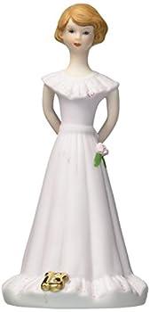 "Enesco Growing Up Girls ""Brunette Age 13"" Porcelain Figurine 5.5"""