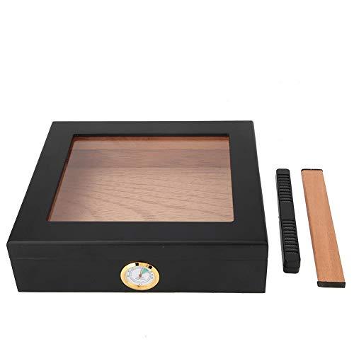 HEEPDD sigaren humidor van Spaans cederhout, draagbare sigarendoos met hygrometer voor 20 tot 30 sigaren
